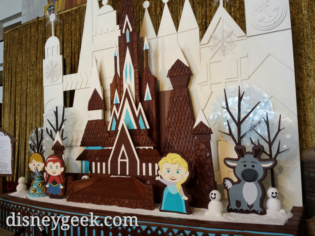 #Frozen gingerbread creation at the Contemporary #DisneyHolidays
