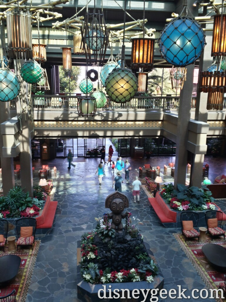 Polynesian Village Resort lobby #WDW