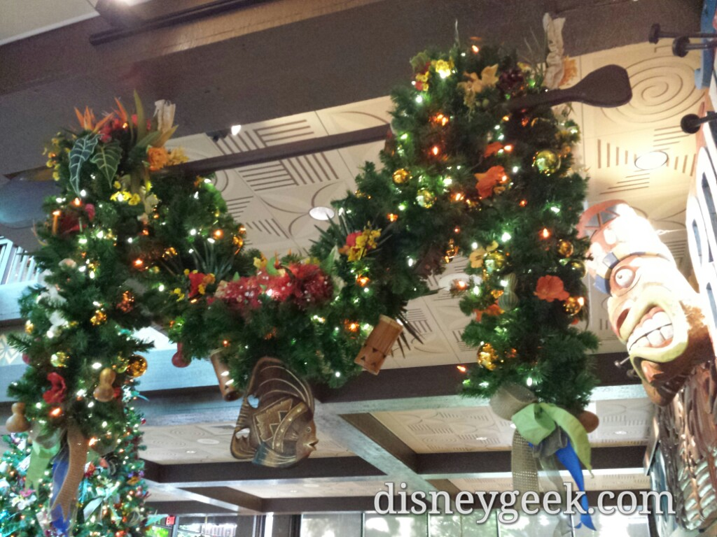 Polynesian Village Resort lobby #Christmas decorations