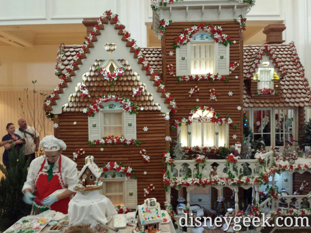 Grand Floridian gingerbread house #DisneyHolidays