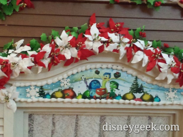 An Inside Out Window on the Grand Floridian - Gingerbread House