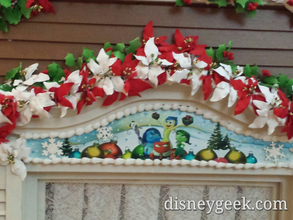 Inside Out window on the gingerbread house in the Grand Floridian #WDW