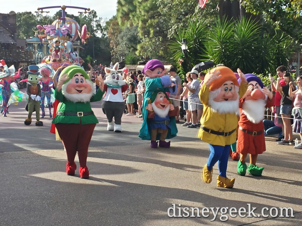 Most of the Seven Dwarfs in the Festival of Fantasy Parade #WDW