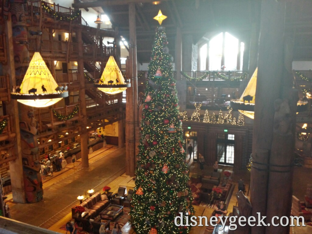 Wilderness Lodge lobby #Christmas tree #DisneyHolidays