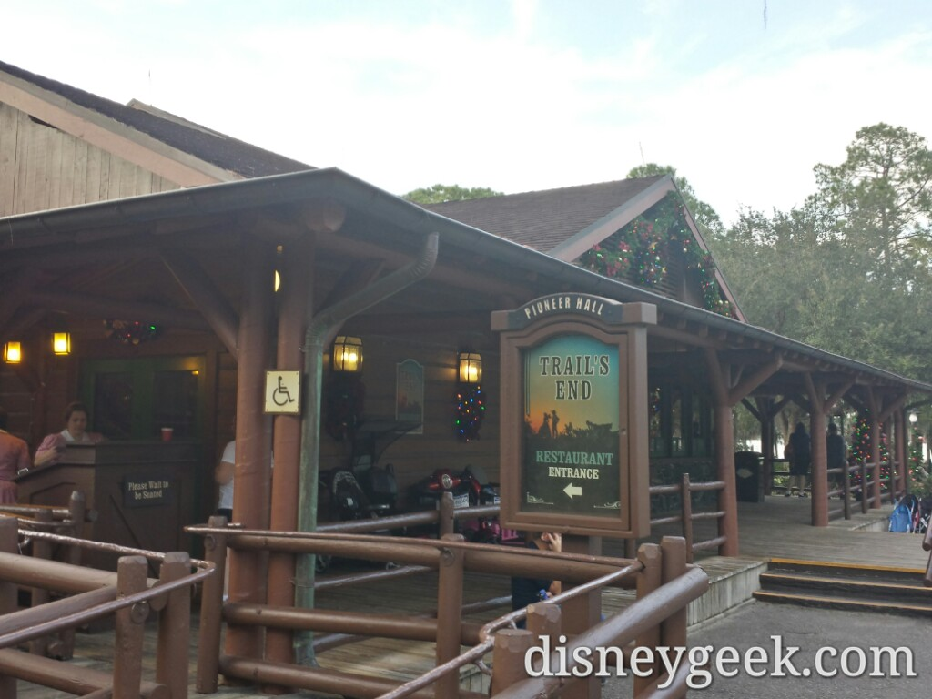 Dinner tonight Trails End at Fort Wilderness #WDW