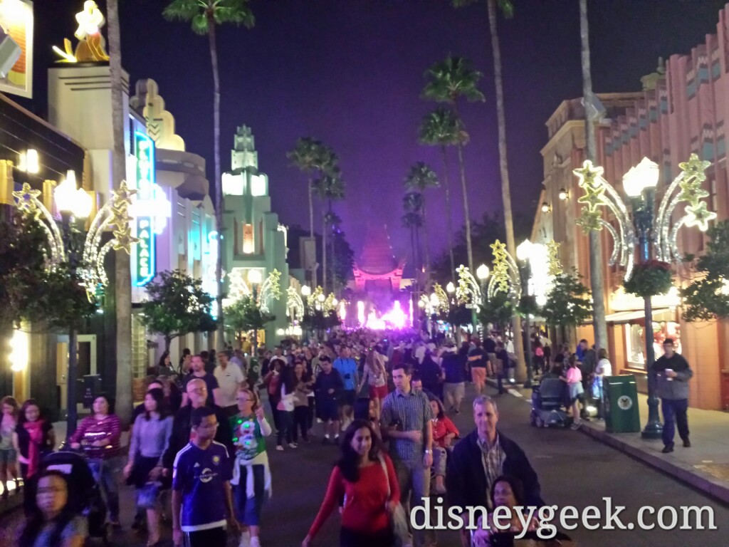 Hollywood Blvd at 7:28pm in Disney's Hollywood Studios #WDW