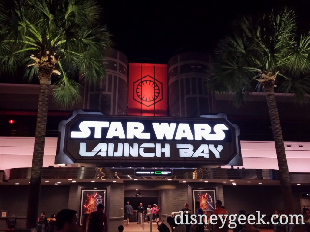 #StarWars Launch Bay entrance at night in Disney's Hollywood Studios #WDW
