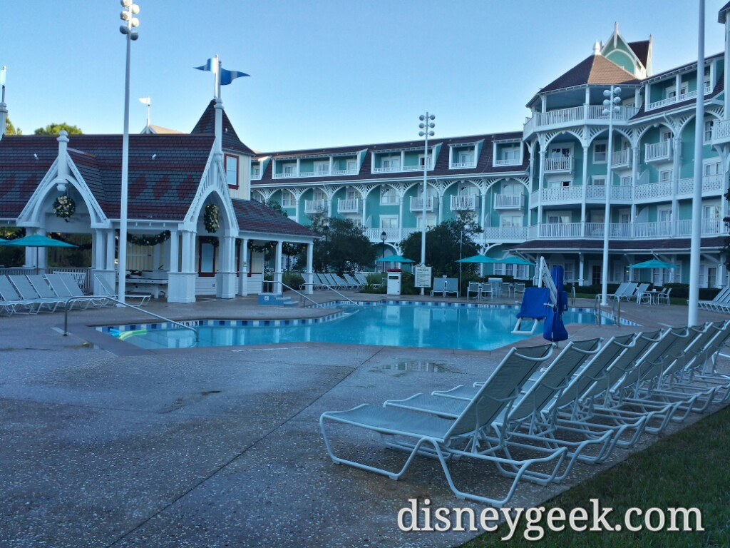 Dunes Cove Pool at Disney's Beach Club Villas this morning #WDW