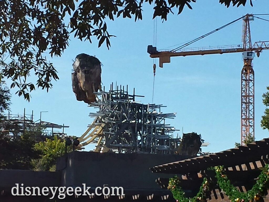 A check of the Pandora construction on the way out of Disney's Animal Kingdom