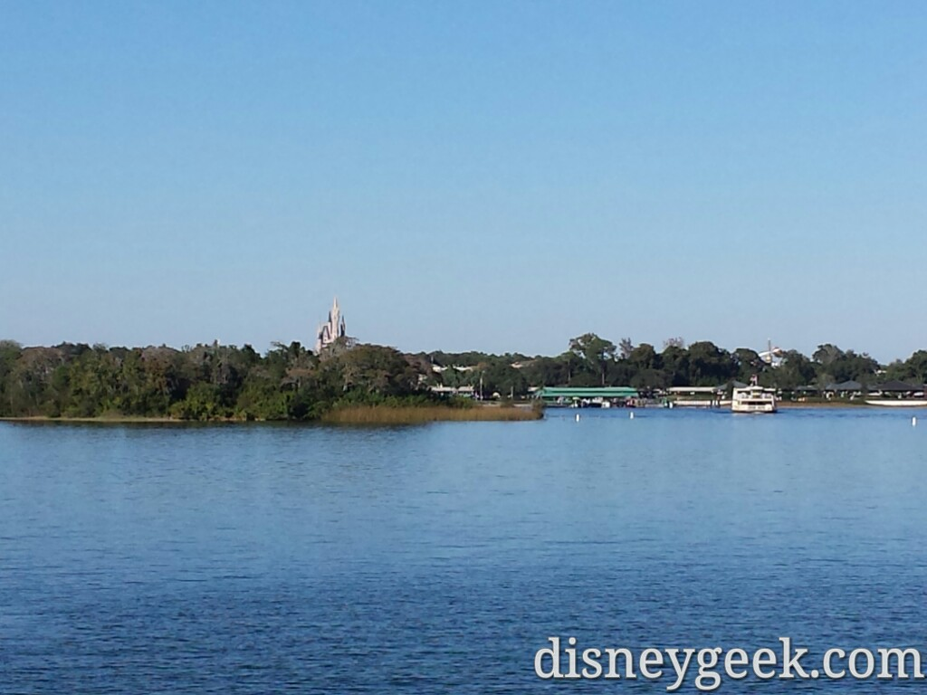 The Magic Kingdom across the Seven Seas Lagoon #WDW