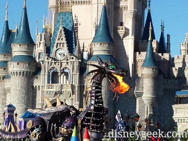 Maleficent Dragon in Festival of Fantasy Parade
