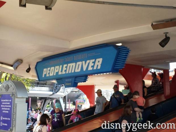The Peoplemover is back in operation.  The speed ramp up was not so you had to walk up but you could ride down.