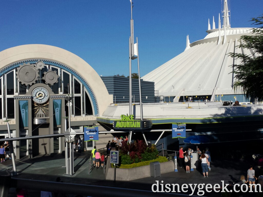 Space Mountain from the Peoplemover #WDW