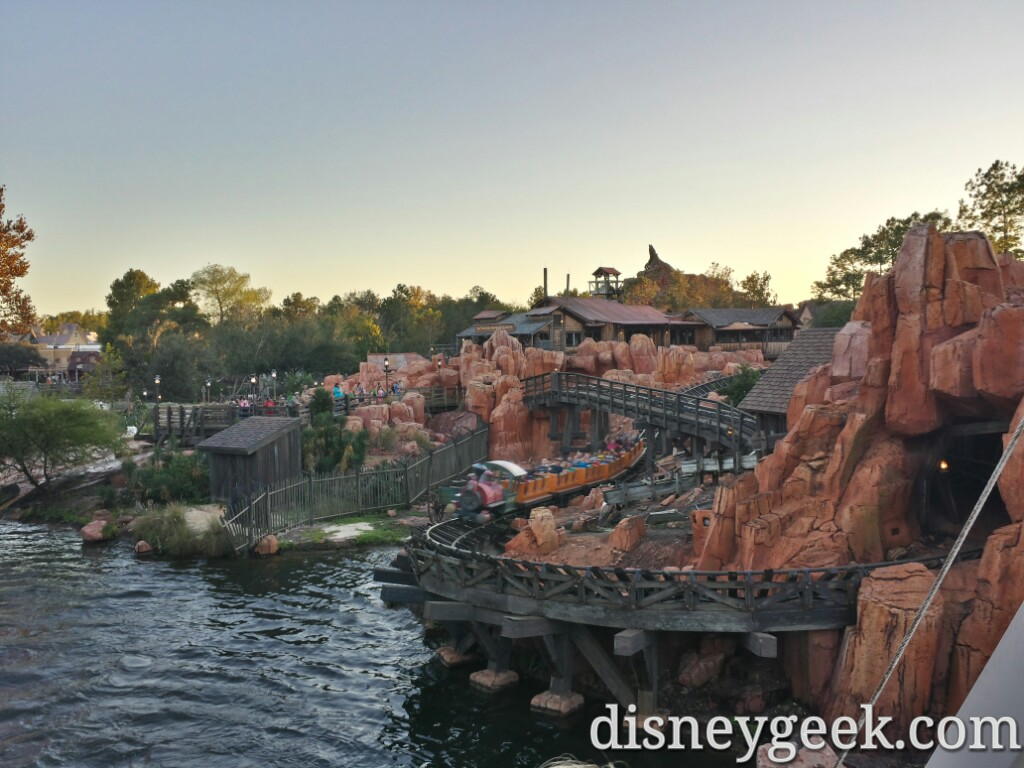 Big Thunder from the Rivers of America #WDW