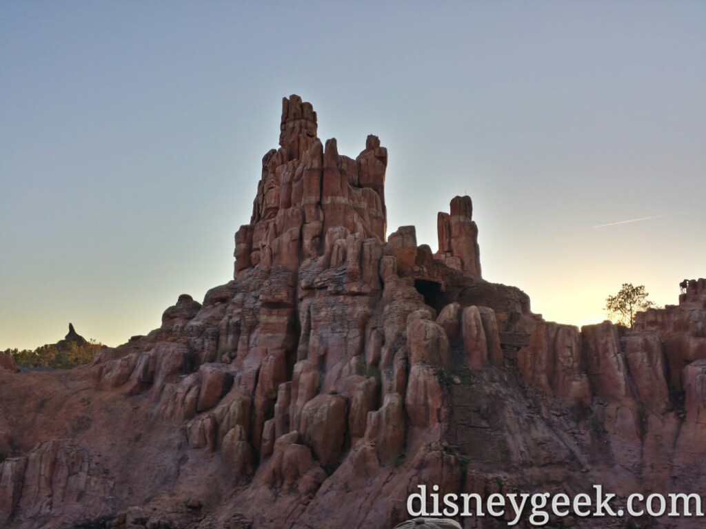 Big Thunder as the sun is setting today at the Magic Kingdom #WDW
