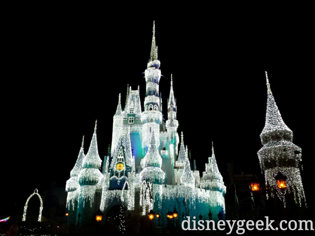 Cinderella Castle lit for the evening #WDW