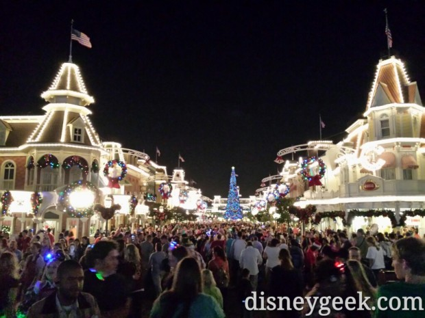 Main Street USA around 6:30 just as busy as an hour ago.