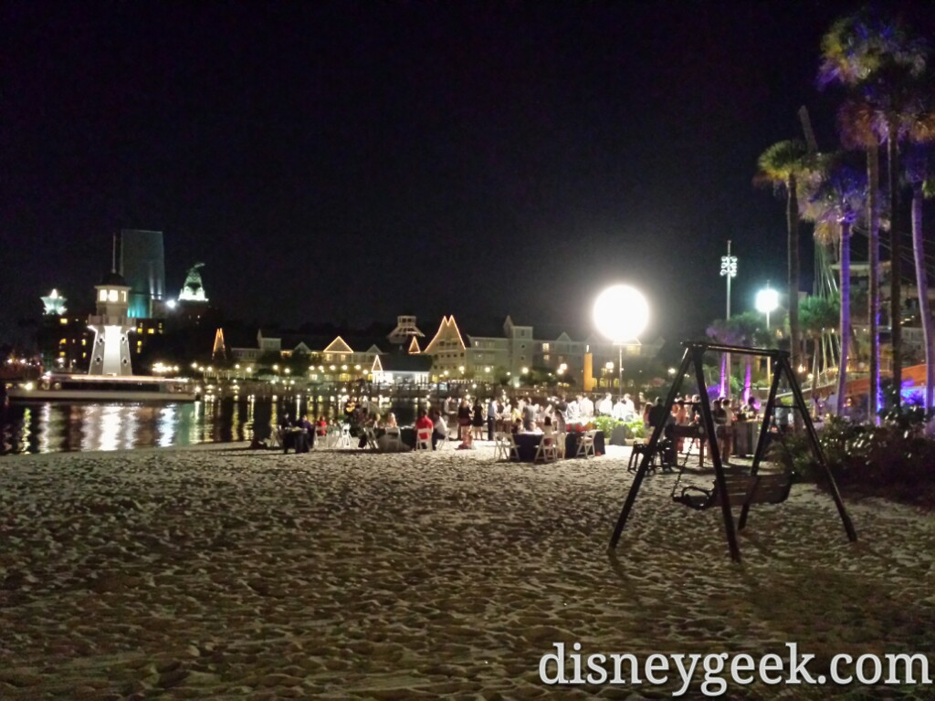A party on the Beach Club beach this evening #WDW