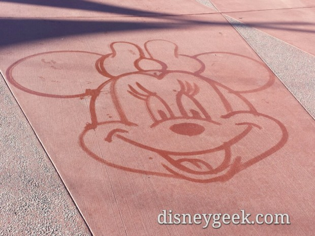 Minnie Water Art done by a custodial CM