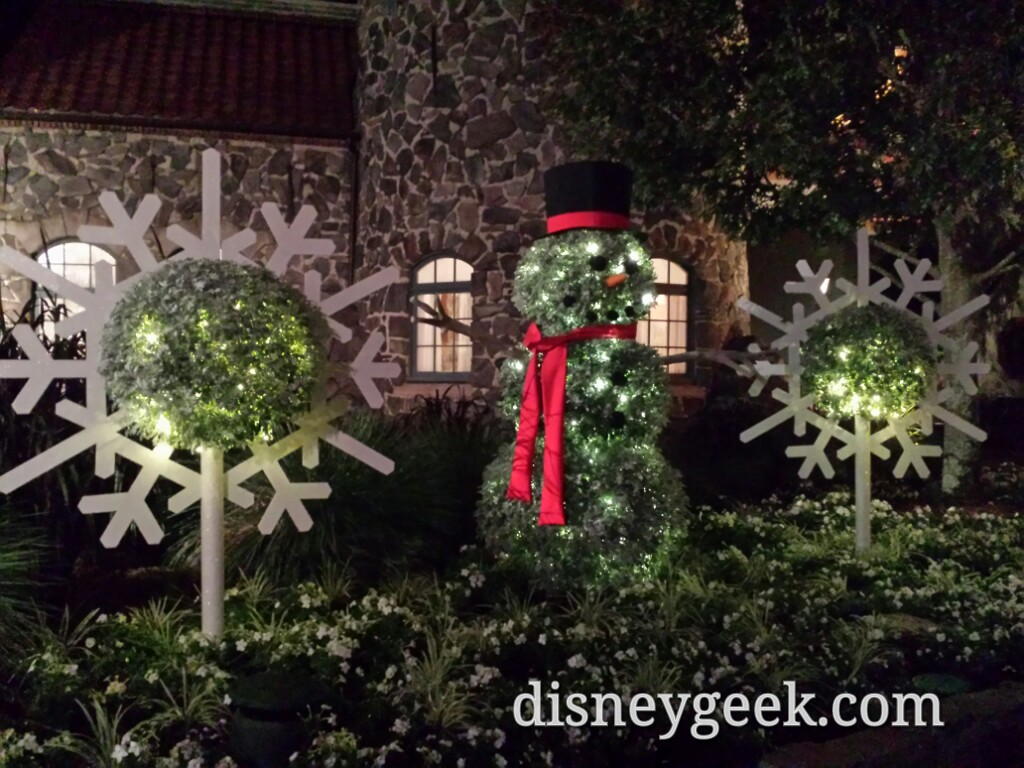 A snowman and snow flakes near Norway @ #Epcot (not Olaf)