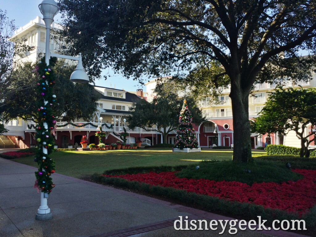 Boardwalk #Christmas decorations & tree #WDW