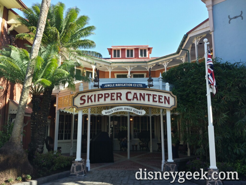 Skipper Canteen soft opening today.. A couple pics including the menu