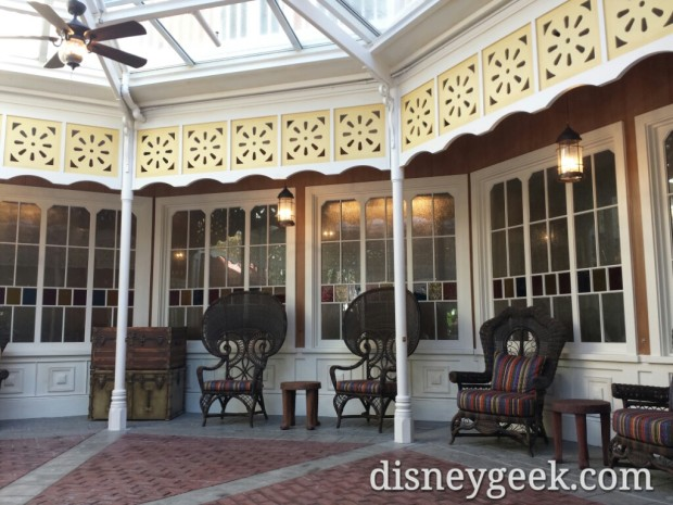 The outdoor waking area of the Skipper Canteen