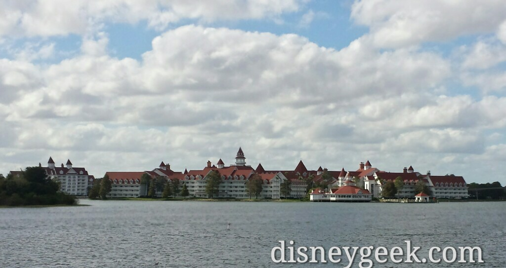 Grand Floridian across the Seven Seas Lagoon at Walt Disney World