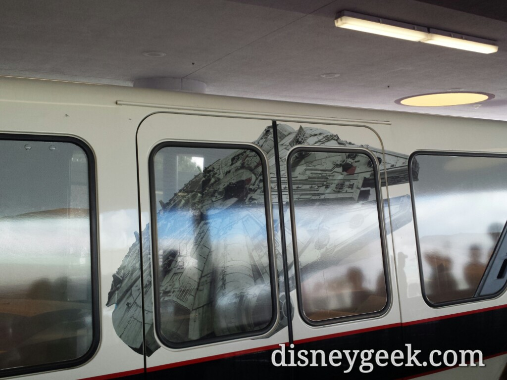 A closer look at the #StarWars Monorail, my ride to #Epcot