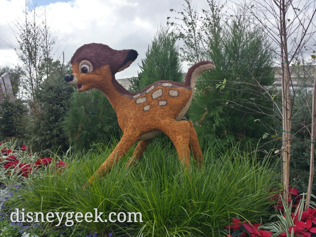 Bambi topiary at the entrance to #Epcot