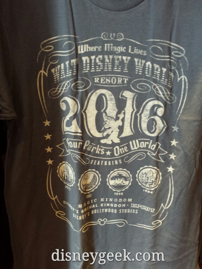 An odd choice on the 2016 #WDW parks shirt.. 3 park opening dates & Tower of Terror vs Studios opening