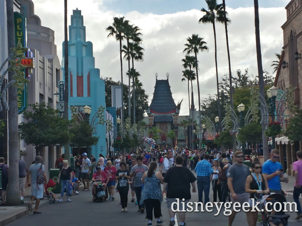 A busy Hollywood Blvd at Disney's Hollywood Studios this afternoon #WDW