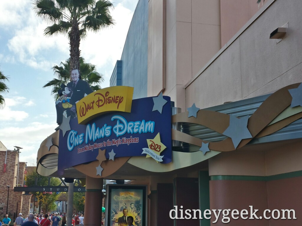 Stopped by One Man's Dream at Disney's Hollywood Studios #WDW