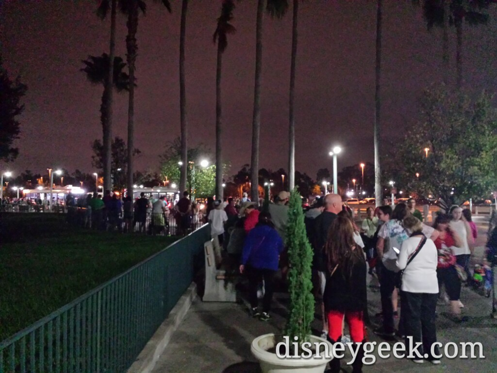 The bus line for Epcot at the Studios (boat was just as bad)