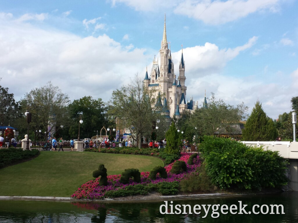 A last look at Cinderella Castle on the way out of the Magic Kingdom #WDW