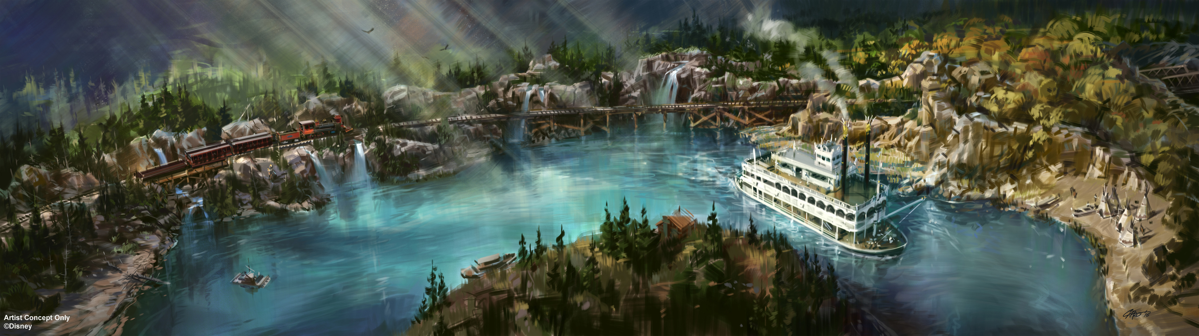 Artist's Rendering Reveals New Look Coming to Rivers of America in Disneyland Park (Disney Release)