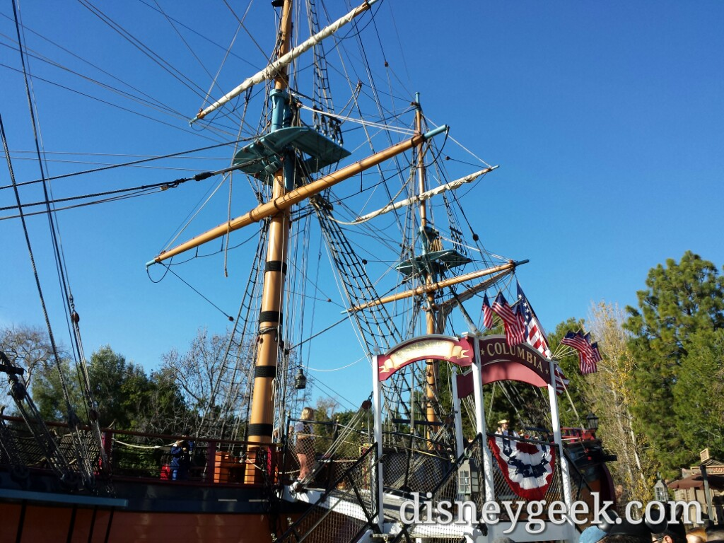 Several pictures from a cruise on the Columbia around the Rivers of America #Disneyland