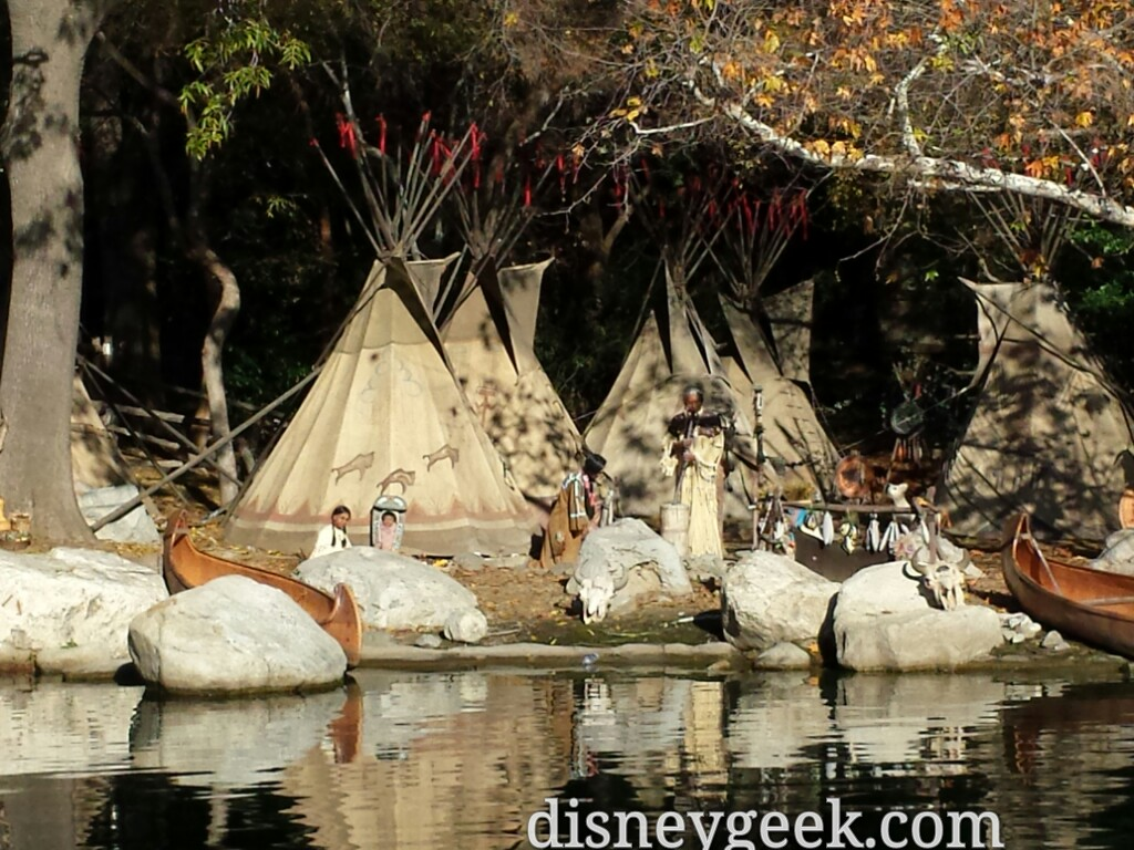 The Indian Village along the Rivers of America #Disneyland