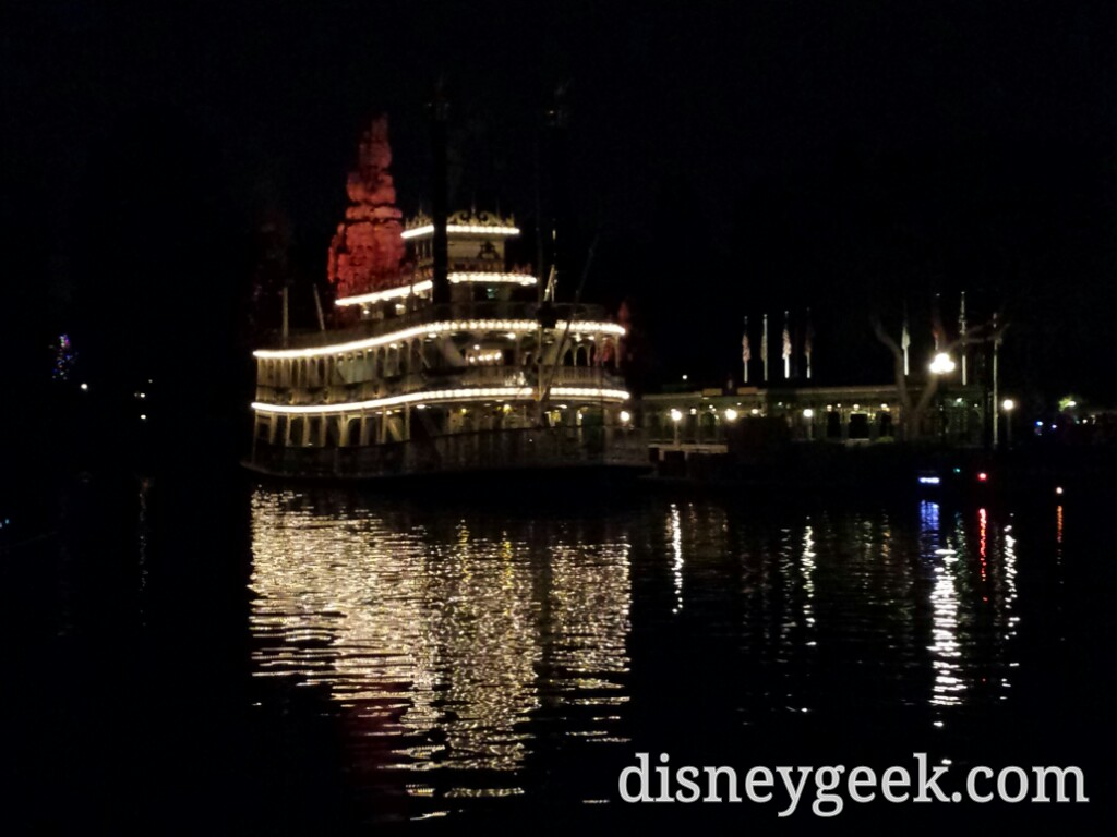 The Mark Twain on the Rivers of America this evening #Disneyland