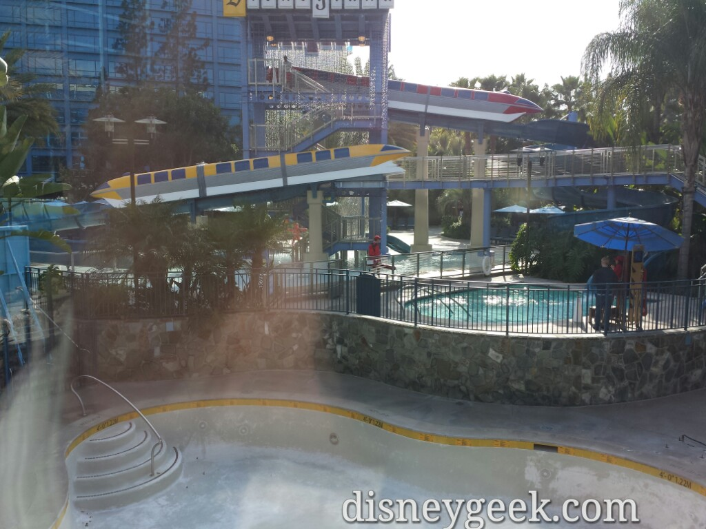 Monorail slides area is open though #Disneyland Hotel