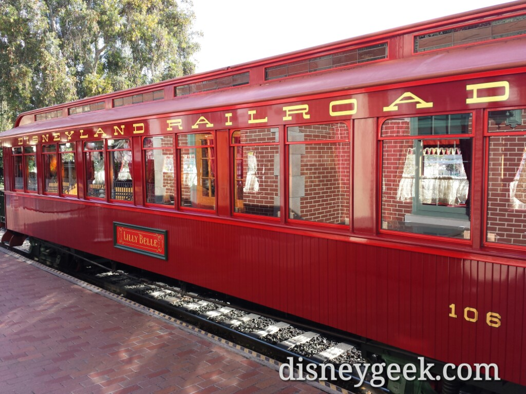 The station is open and you can take pictures with the train and visit with cast members #Disneyland