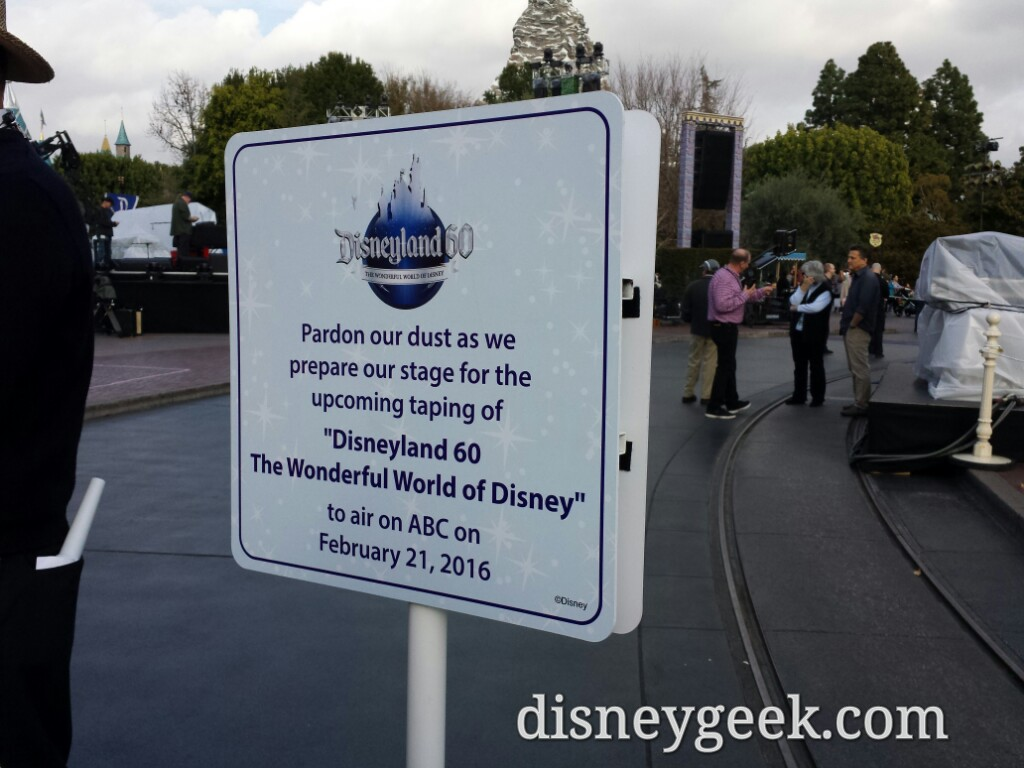 #Disneyland60 television show taping continues tonight in front of Sleeping Beauty Castle