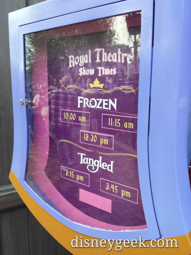 #Frozen in the morning #Tangled in the afternoon at the Fantasy Faire Theatre #Disneyland