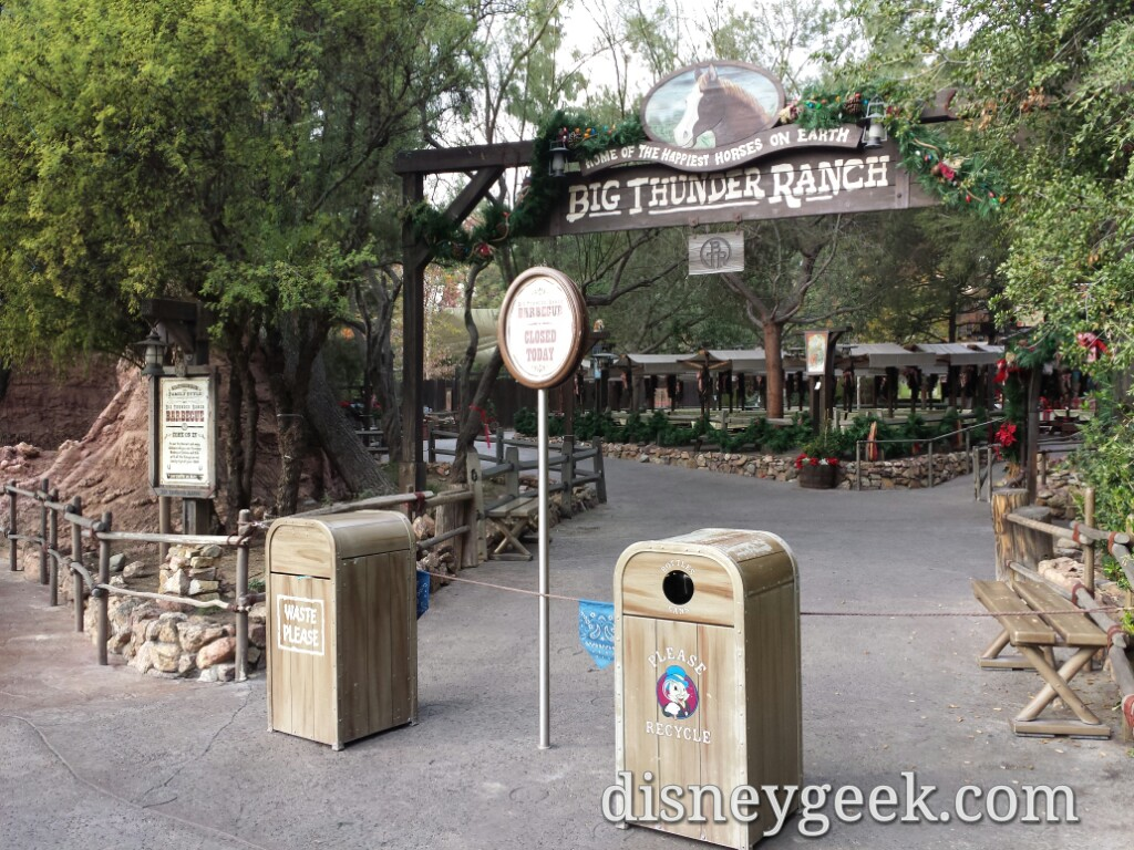 Nothing has happened along the Big Thunder Trail yet besides closing everything #Disneyland