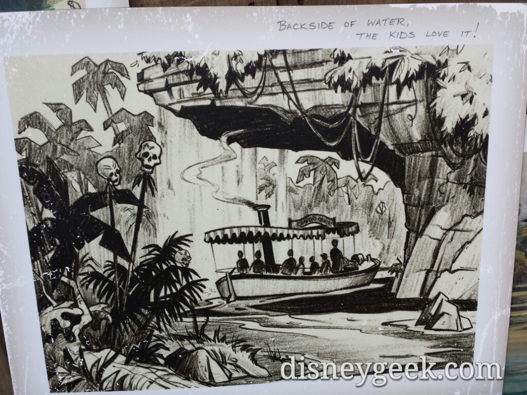 Jungle Cruise Is Closed The Wall Features Concept Art And A Poster Disneyland The Geek S Blog Disneygeek Com