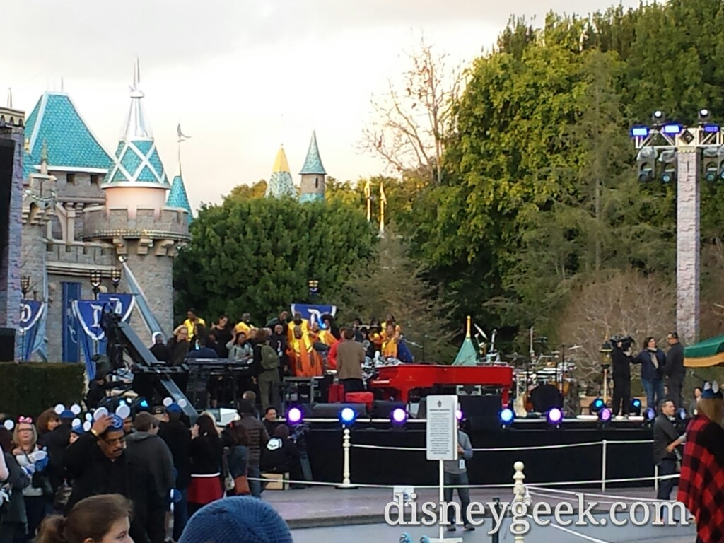 Rehearsal going on for tonight's #Disneyland60 taping