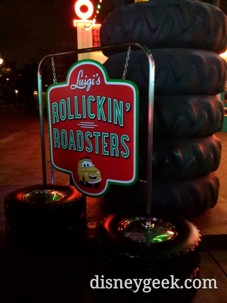 Luigi's Rollickin' Roadsters sign #CarsLand