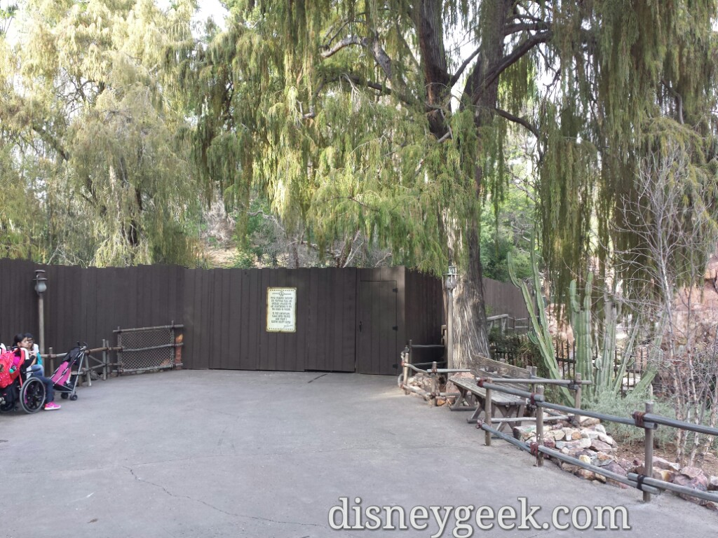 The Big Thunder trail is walked off just past the attraction exit #Disneyland