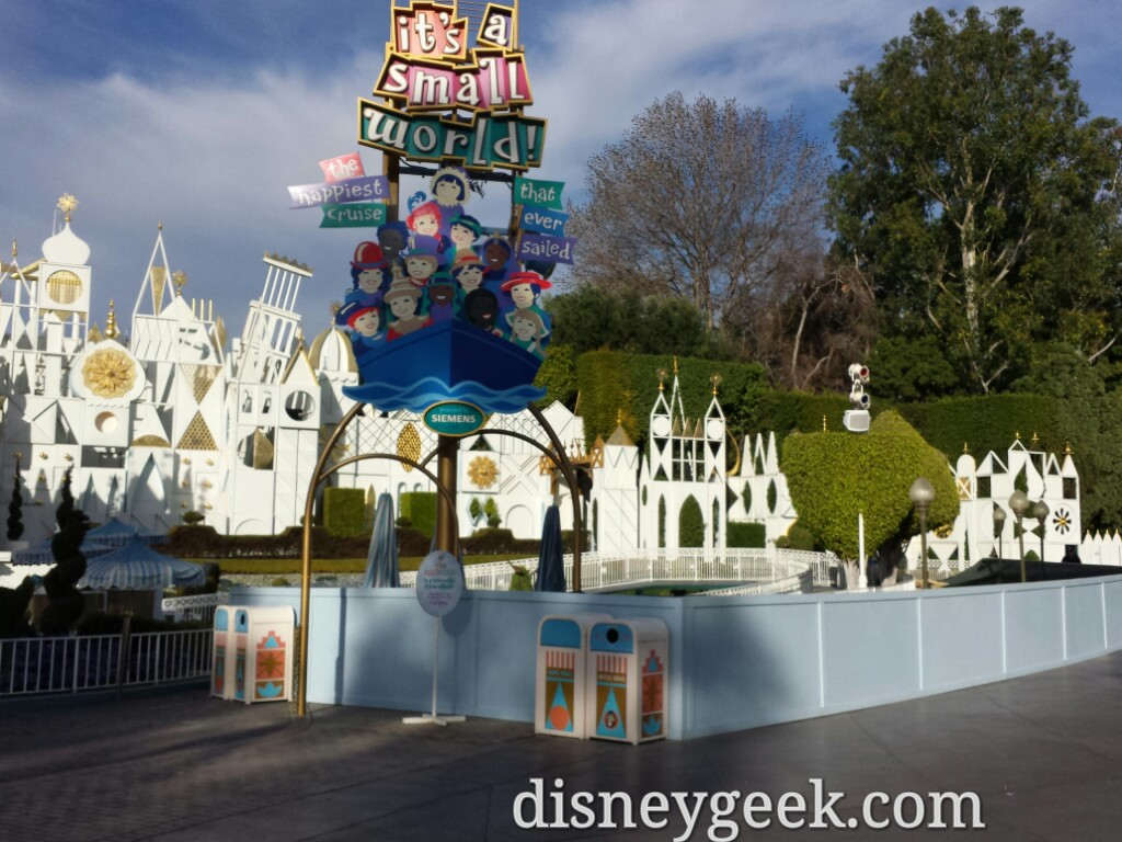 Small World is closed for the holiday switchover & some renovation work #Disneyland