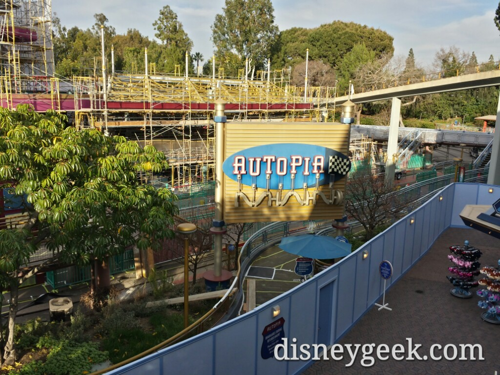 Autopia is closed for renovation at #Disneyland